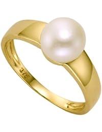 Ellen K. - 360370271-054 - Bague Femme - Or Jaune 9 Cts 375/1000 - Perle d'eau douce