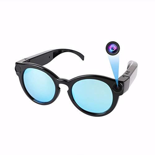 HankerMall Video-Brille Kamera, 1080P HD Sport Kamera Weitwinkel-Videorekorder WiFi-Kamera Sonnenbrille Unterstützung IOS / Android