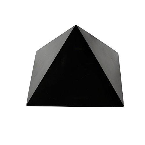 Schungit Pyramide Polierte Naturstein Chakra Kristall Heilende Energie Karelien Russland (5 CM Poliert)