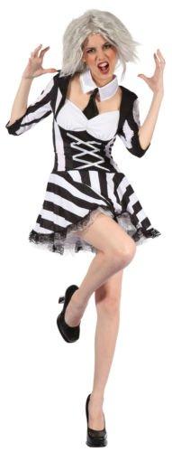 Tote Psycho - Halloween Erwachsene Kostüm (Beetlejuice Kostüme Für Frauen)