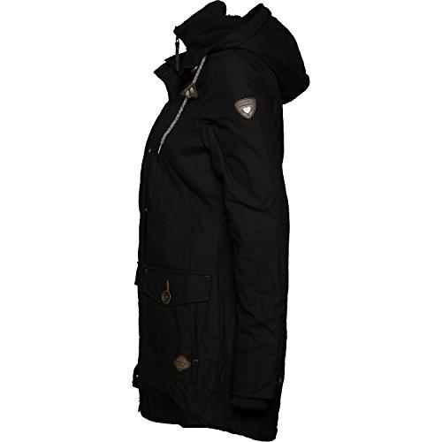 Ragwear Damen Mantel Wintermantel Winterparka YM-Jane (vegan hergestellt) Schwarz Gr. L - 3
