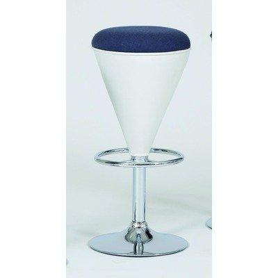Produktabbildung von 2 Stück:Design Barhocker Cone Lederoptik schwarz/grau , Hocker höhenverstellbar