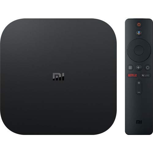 Xiaomi Mi Box S (EU Version) 4K Ultra HD Media Player mit Google Assistent Fernbedienung, Bluetooth,HDMI 4K HDR, Dolby Audio, DTS HD,Android 8.1 Schwarz