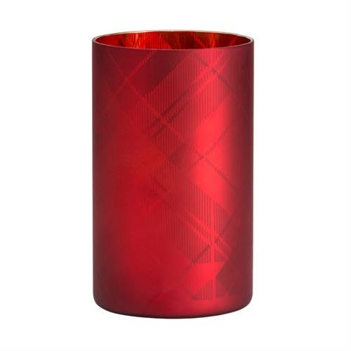 Yankee Candle Flicker (Yankee Candle 1521370 Tartan Flicker Jh Jar Holder, Glas, Rot, 12 x 12 x 20 cm)
