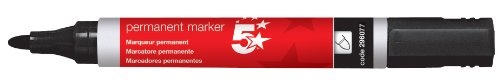 5-star-permanent-marker-xylene-toluene-free-smearproof-bullet-tip-2mm-line-black-pack-of-12