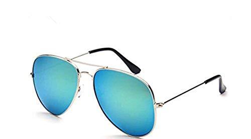 OMAS Weißer Rahmen Ice Blue Mercury Brille Pilotenbrille Frau Jahrgang neu Piloten Sonnenbrille...