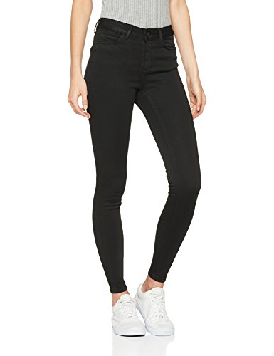 Noisy may Damen NMLUCY NW Power Shape BA076 NOOS Slim Jeans, Schwarz (Black Black), W26/L30 (Herstellergröße: 26)