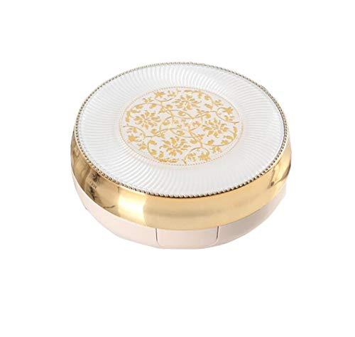 15 ML 0.5 oz Air Cushion Powder Puff Box Base Líquida BB Cream Container Holder Dressing DIY Maquillaje con Powder Puff Esponja y Espejo (Flor)