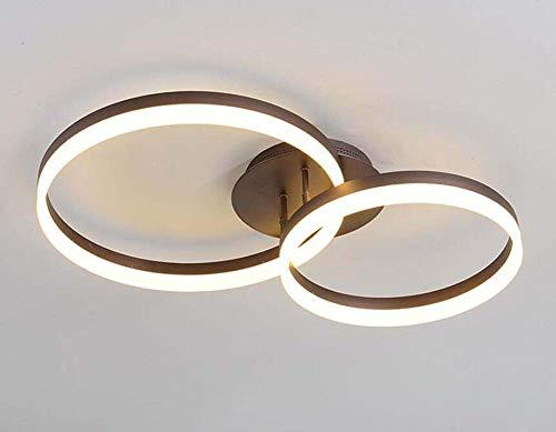 LED-Decke Mount Lampe Modernen Runden Kronleuchter Single/Zwei/DREI Kreis Deckenleuchten Deco Geometrische Lichter,Twocircles78*50CM -