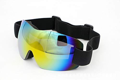Coniea Snowboardbrille Polarisiert PC Skibrille Herren UV Schutz Sicherheitsbrille Rot