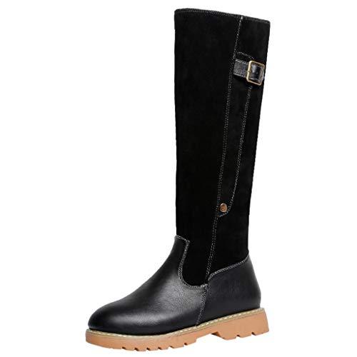 Bottes Femme Cuir Hiver - Manadlian Bottes de Neige Cuissardes Bottines  Longue Mode Sexy Chaussures Fermeture dfe648648d6f
