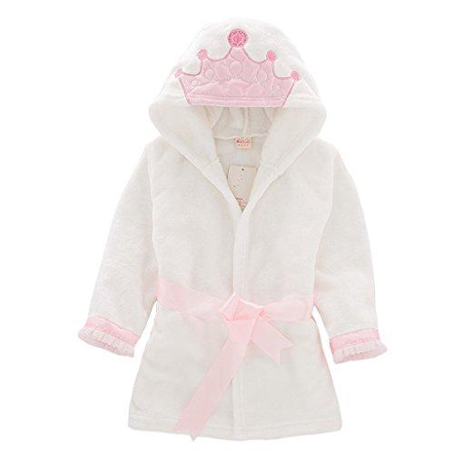 79a0420f6 Niños Albornoz con capucha camisón, bebé toalla de baño pijamas Baño robe  Animal ropa de