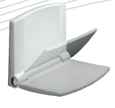 ABU Lifestyle Sitz für Dusche weiß 659801 Duschklappsitz RHODOS Nr.40A Thermoplast