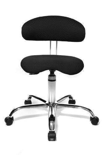 Topstar ST290 W50 Fitnesshocker mit Rückenunterstützung Sitness 40, Stoffbezug schwarz