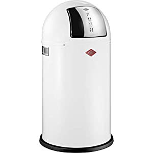 Wesco - Pushboy 50Lt Waste Bin - White