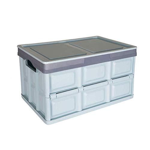 J+N NJ Aufbewahrungsbox- Kunststoff Folding Car Extra Large Aufbewahrungsbox, Multifunktionsnahrungsmittel-Kleidungs-Spielzeug-Aufbewahrungsbox (Farbe : Blau, größe : 51.5X35X29CM)