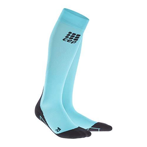 cks für Damen | Knielange Sportsocken mit Kompression in blau in Größe III ()