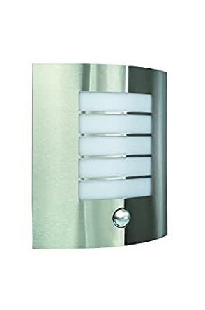 Massive Oslo Outdoor Wall Light Stainless Steel (Requires 1 x 60 Watts E27 Bulb, with PIR Motion Sensor)