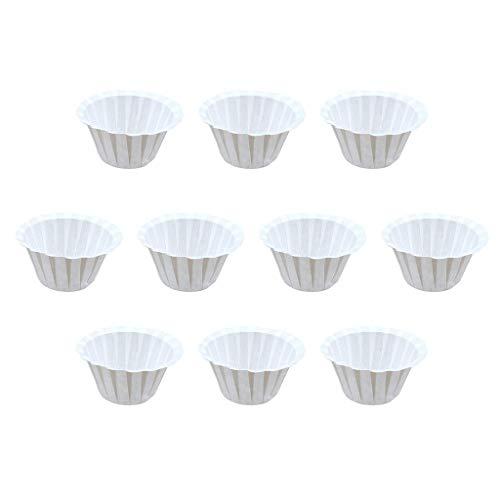 YueHao 50Pcs Kaffee Filterpapier Tasse Einweg Pappbecher Kcup Kaffeefilter Tasse Lebensmittelqualität Tasse Gestalten (Weiß) -