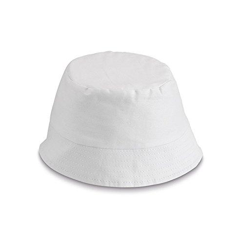 polyester pour enfants chapeau de seau - enfants chapeau de soleil pour la pêche plage pêcheur Blanc