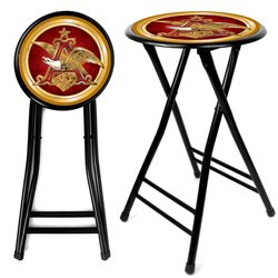 Anheuser Busch A & Eagle 24 Inch Cushioned Stool
