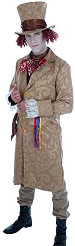 Zauberclown - Herren Dickensian Toff Kostüm, Viktorianischer Mantel, M, Braun-Beige (Dickensian Kostüm Frauen)