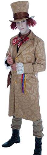 Halloweenia - Herren Dickensian Toff Kostüm, Viktorianischer Mantel, M, - Herren Dickensian Kostüm