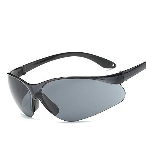 Fahrradbrille Herren Fahren Outdoor Sports Sonnenbrillen Flat Top Sport Schild Sonnenbrillen Polarisierte Sportfischen Golf Leichter Rahmen (Farbe : Grau, Größe : Free Size)