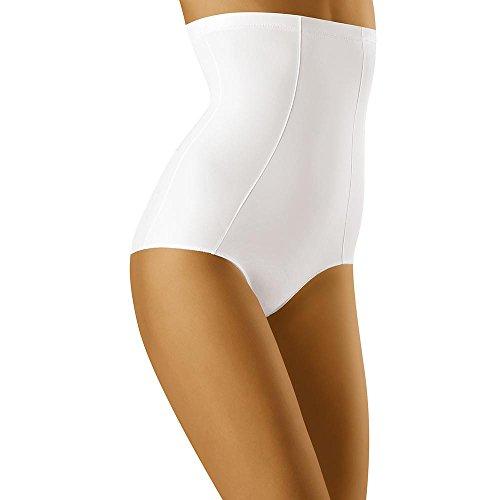 Wolbar Damen Figurformender Miederslip Mit Bauch-Weg Effekt WB36-2, Weiß,Medium -