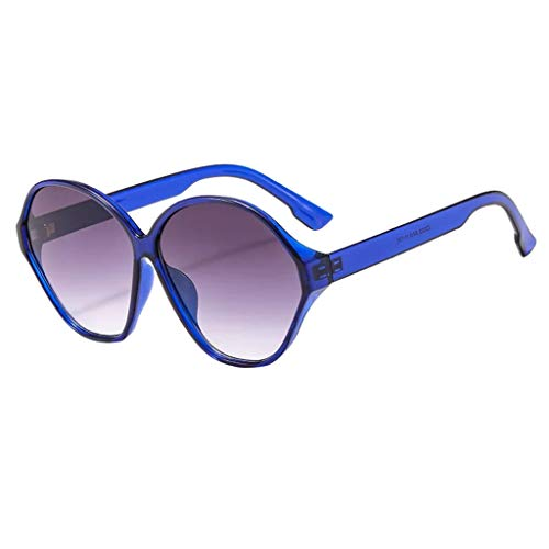 fazry Männer Frauen ovalen Rahmen Retro Fashion Sonnenbrillen Brillen(B)