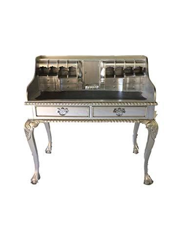 Antiker Barock Louis Seize Renaissance Rokoko Sekretär Farbe:Silber Schreibtisch Schminktisch...