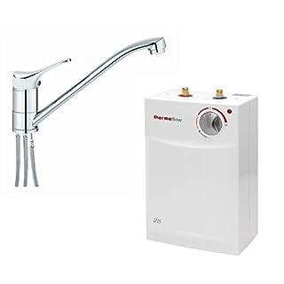 respekta thermoflow 5 Liter Untertisch Boiler Warmwasserspeicher mit Armatur UT 5 + Qmix 700 Set
