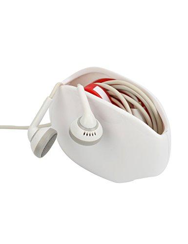 Automatische Kabel (Caeser Archy 2Stk Schnurhalter Automatik Kopfhörer Aufbewahrungsbox Kopfhörerkasten USB Kabel Kopfhörer Wickler Collector, eine zweite Speicherung Ihr Kopfhörer, weiß)