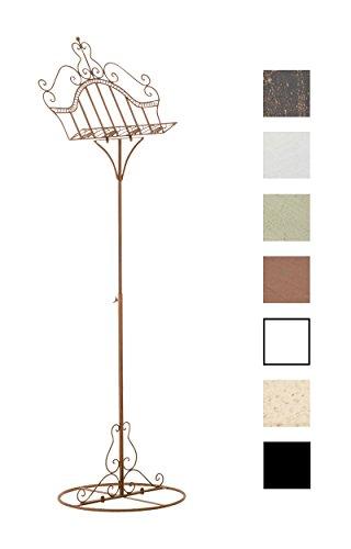 CLP Notenständer VANESSA höhenverstellbar 122 - 161 cm, antik Design, Eisen beschichtet, bis zu 7 Farben wählbar Antik Braun