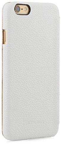 StilGut® Book Type Case, Hülle aus Leder für Apple iPhone 6 (4.7'') iPhone 6 (4.7'') schwarz Weiß