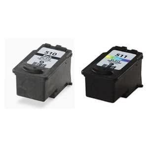 Canon PG510 (PG-510) Black & CL511 (CL-511) Colour remanufactured ink cartridge for Pixma iP2700 iP2702 MP240 MP250 MP252 MP260 MP270 MP272 MP280 MP282 MP480 MP490 MP492 MP495 MP499 MX320 MX330 MX340 MX350 MX360 MX410 MX420 Printers by Rocket Office