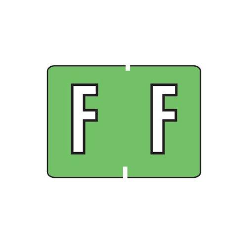Smead A-Z color-coded etiquetas, F, luz verde, 252etiquetas por paquete (22026)