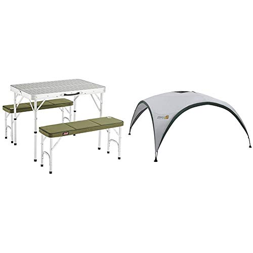 COLEMAN 205584 Mesa de Camping, Campingtisch Pack-Away(TM) Table for 4, Blanco +...