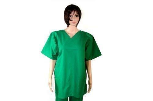 Quirófano-Kasack Farbe: colour verde 100% algodón