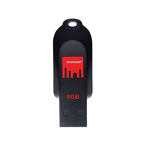 Strontium Pollex USB 2.0 8GB Pen Drive (Red & Black)