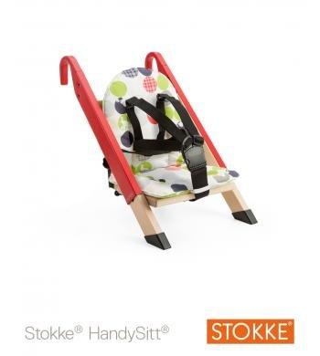 Stokke Handysitt Chair WITH Silhouette Cushion (Red Handysitt)