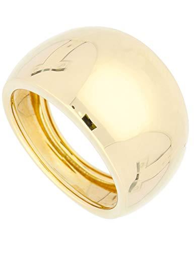 MyGold Damen Ring Gelbgold 585 Gold (14 Karat) Schlicht Gr. 58 Damenring Breit 14mm Goldring 3,5gr Geschenke Für Frauen Wilshere R-06062-G401-W58