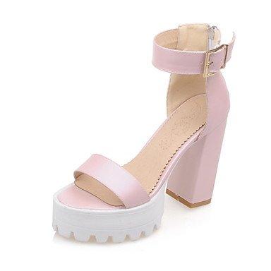 LvYuan Damen-Sandalen-Lässig-Kunstleder-Blockabsatz-Andere Club-Schuhe-Blau Rosa Beige Pink