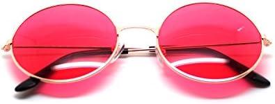 Ultra® oro enmarcado con rojo lentes adultos Retro redondas gafas de sol completo espejo lente John Lennon estilo vintage buscar calidad UV400 gafas de sol hombres mujeres