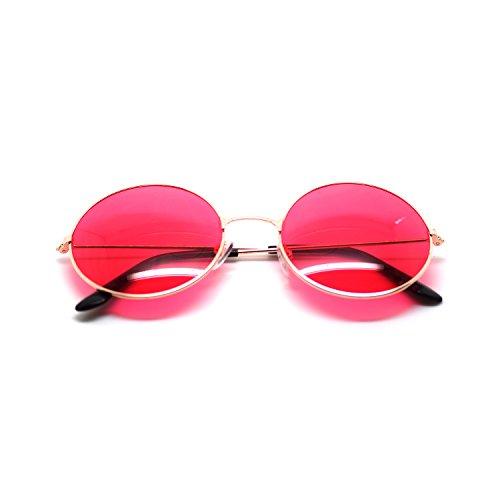 or-encadre-avec-red-lentilles-adultes-retro-rond-vintage-style-de-lunettes-de-soleil-complete-miroir