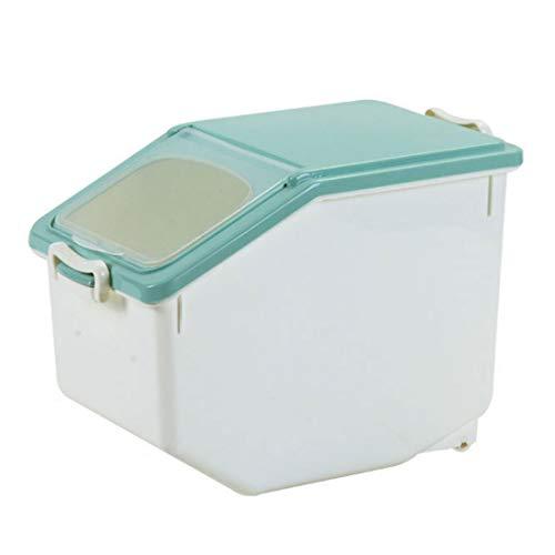 Vorratsbehälter Küche mit Deckel,GODNECE 12L Reis Box mit Messbecher Vorratsbehälter für Lebensmittel Reis Mehl