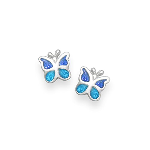 Sterling Silver Heart Earrings Turquoise - SIZE: 6mm . 5590TQ. Gift Boxed DU0aIiuJr