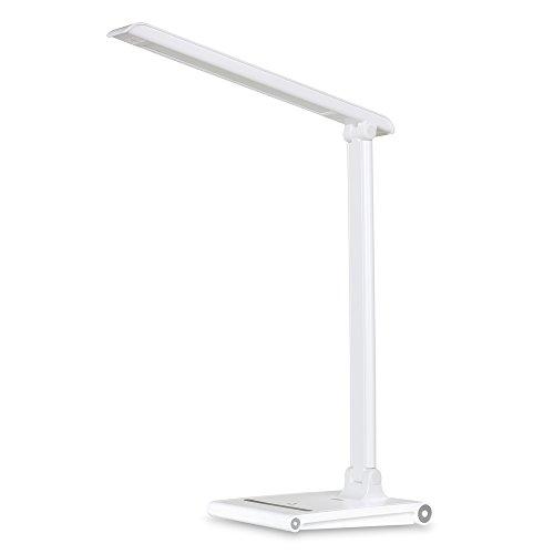 August LEC315 - Lámpara LED de Escritorio con Puerto USB de carga - Flexo LED con 3 Modos de Luz