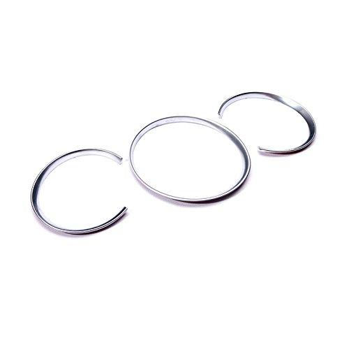 Macan 2014 2015 2016 Interieur Armaturenbrett Dekor Matt Cover 3 Stück Iso Trim Ring