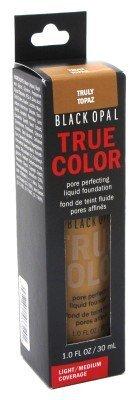 Black Opal True Color Pore Perfecting Liquid Foundation Light/Medium Coverage 1oz (Truly Topaz) by Black Opal (Stick Foundation Free Oil)